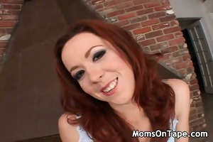 redheaded mommy receives a large cock.