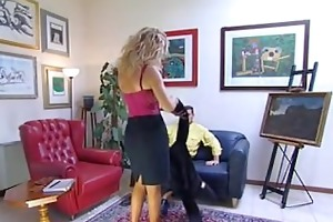 older blonde italian woman has anal sex -