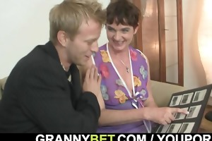 sexy sex with lustful granny