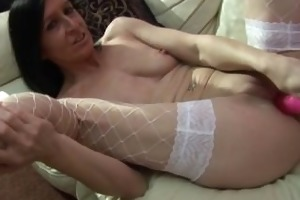 excited old housewife reaches an orgasm part4