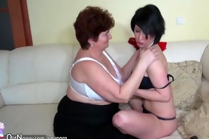 old granny and youthful hotty