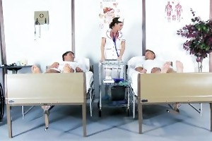 excited nurse diamond foxx gives her patients