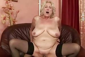 breasty corpulent grandma enjoys fine fucking