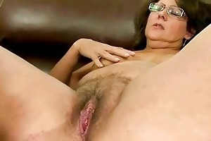 granny receives her hirsute cunt drilled hard