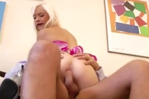 constricted juvenile blond receives a pounding