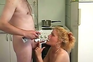blond mama screwed in kitchen in sexy