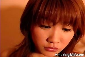 cute asian hottie masturbating her outstanding