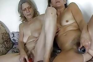 sexy granny masturbating with vibrator