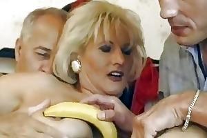 older german blond gets double screwed