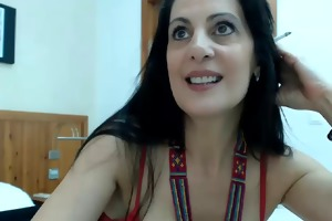 very hawt spanish milf in web camera