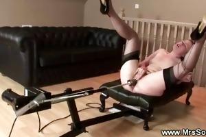 older brit and her fuck machine
