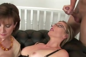 lady sonia and older ally fuck youthful boy and