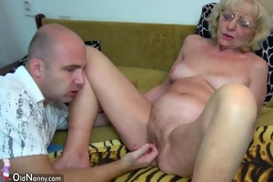 oldnanny old granny is very very slutty and moist