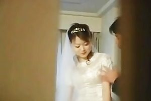 real oriental bride getting hard core group