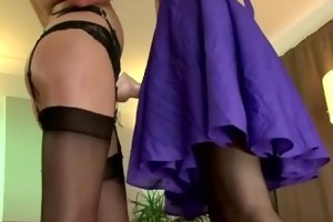 belt on wielding amateur lesbian babes acquire