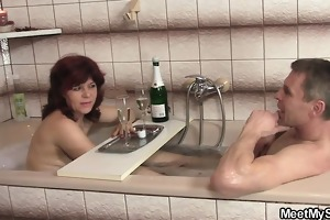 old mommy and bigcocked daddy are glad by son\s gf