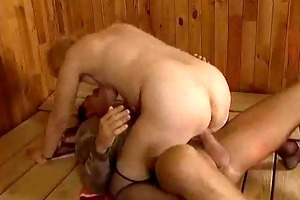 old ladies drilled hard in full video
