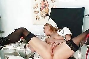 skinny milf nora opens cum-hole wit...