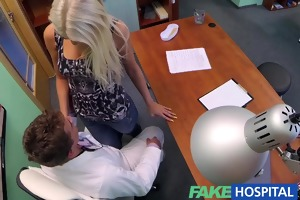 fakehospital doctors hot blond ovulating wife