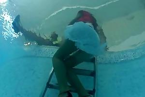 lesbo mother i sluts having enjoyment in the pool