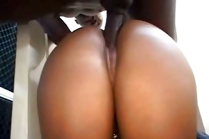big butt darksome floozy pounded with bbc