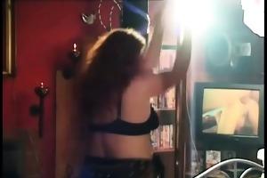 obscene overweight dark brown doxy stripping