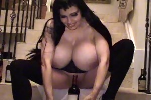 teddi barrett big boob in darksome costume on
