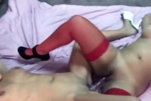lavender and cutie share a massive sex tool