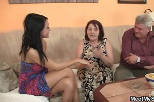 sinless hotty is enticed by granny and screwed by