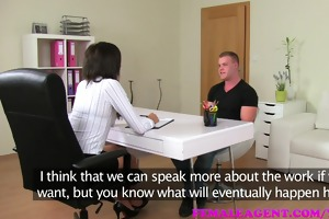 femaleagent lustful dude makes his intentions