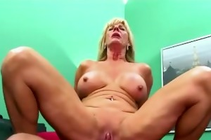 anal sex for golden-haired lewd granny