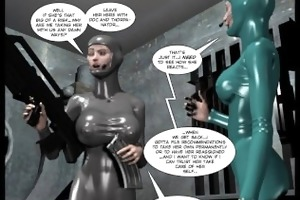 3d comic: spermaliens. movie scene 1
