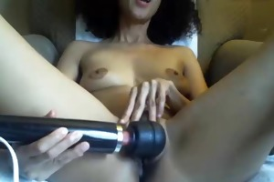 mature, petite mambos plays with shaggy bawdy