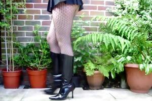 my wifes naughty heartless spike heeled kneehigh