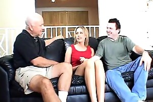 leggy golden-haired wife team-fucked