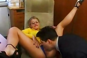 sexy secretary having a pont of time with her boss