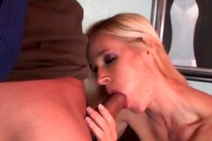 older doxy sucks and receives group-fucked