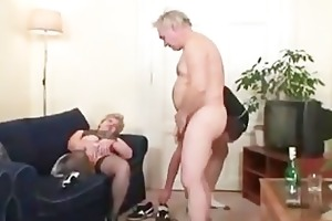 sexually excited granny receives a second knob to