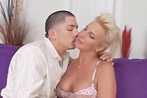 aged spouse invites juvenile man to fuck