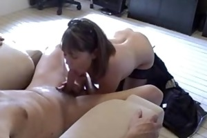 hot milf gives priceless oral pleasure and tugjob