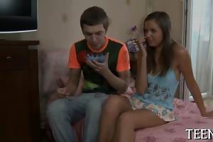 slutty sweet legal age teenager enjoys older cock