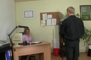 office lady copulates her employee