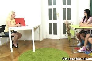 amanda and her hot juvenile ally go into their