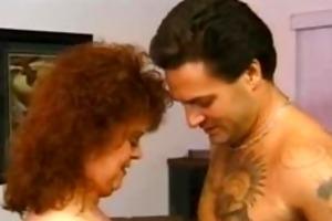 plumper granny redhead sucks large dick aged aged
