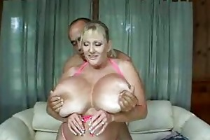 huge milf juggs in sexy titjob and hardcore action