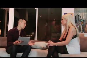 cheating big-tit blond wife doxy has cum-hole