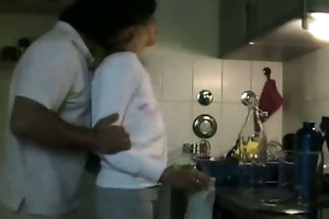 cute wife screwed in the kitchen