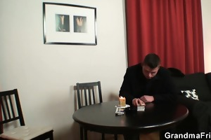 strip poker leads to hard three-some