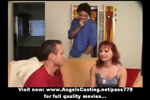 redhead d like to fuck as bride does oral-sex for