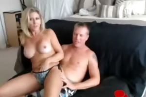 blonde d like to fuck sits on her mans schlong -